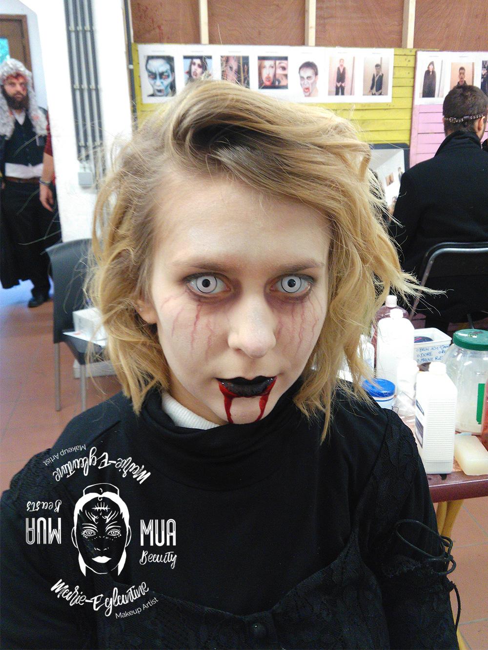 Maquillage Halloween vampire