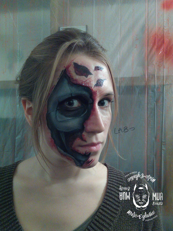 Maquillage Halloween terminator