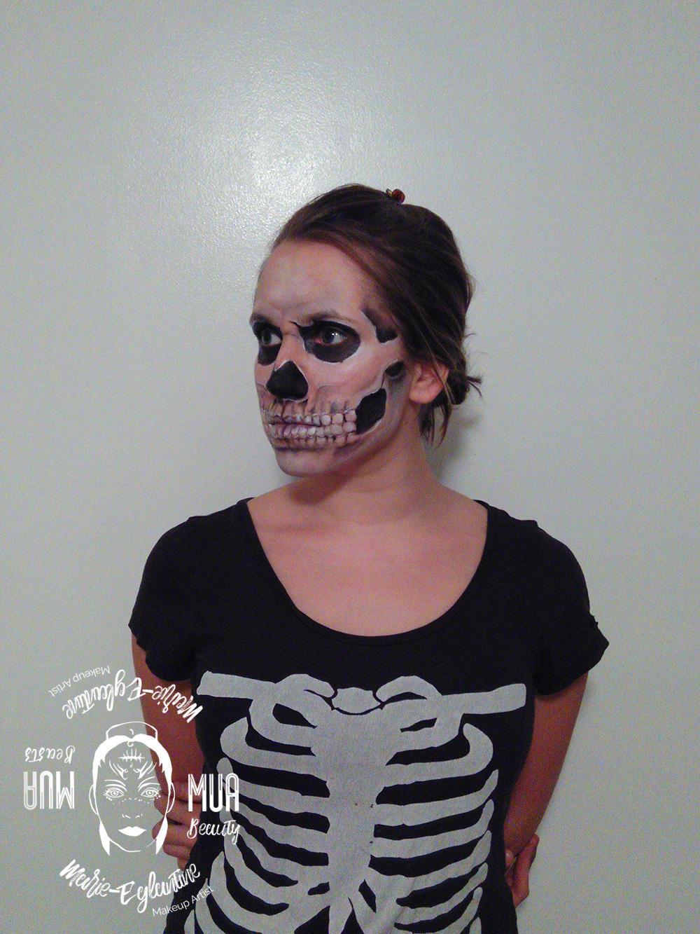 Maquillage Halloween squelette réaliste