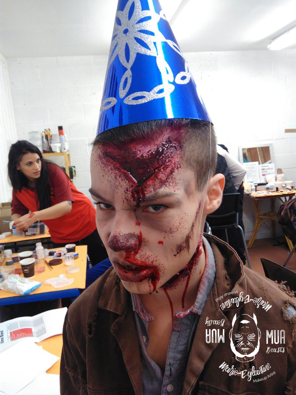 Maquillage Halloween clown