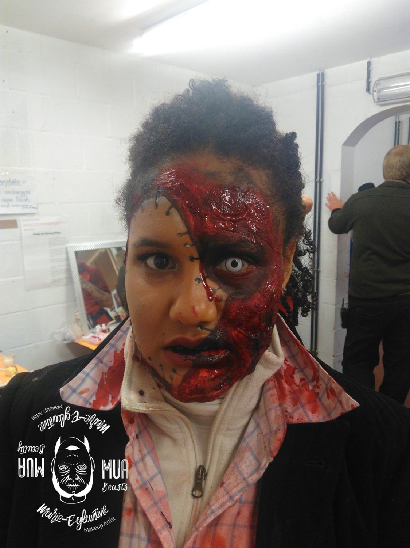 Maquillage Halloween blessure