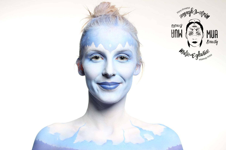 Maquillage sur corps - Icequeen