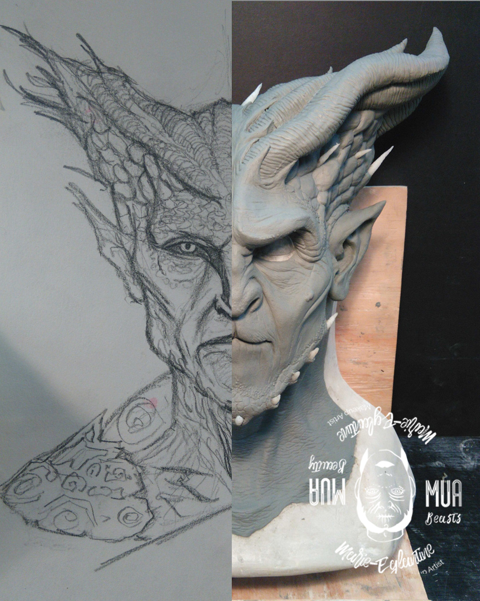 From drawing to sculpt