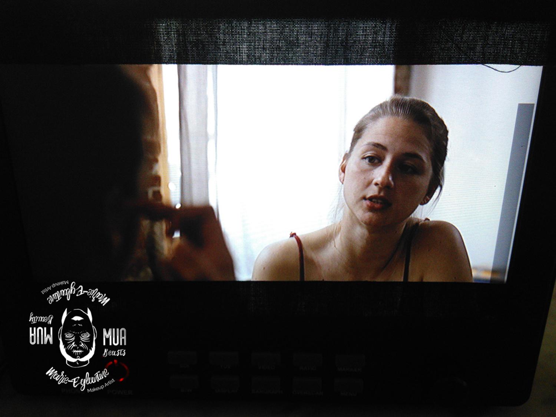 Maquillage pour le court métrage Singulières