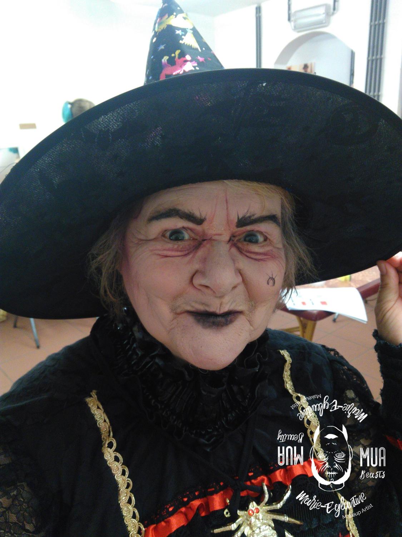 Maquillage à walibi Sorcière