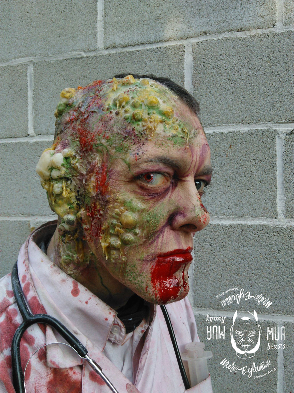 Maquillage à walibi Zombie