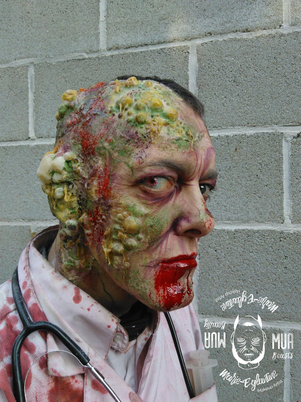 Maquillage d'un Zombie à Walibi
